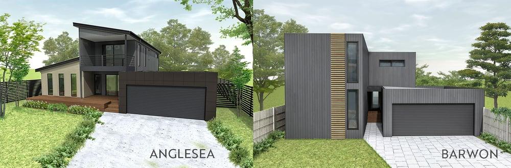 Anglesea vs Barwon two storey modular home design range