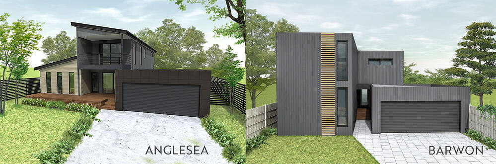 Anglesea vs Barwon two storey modular home design range