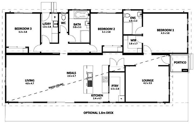 5 best modular holiday home designs for Holiday home builders floor plans
