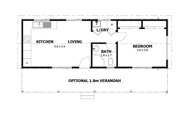 3 best modular granny flat designs for Floor plan granny flat